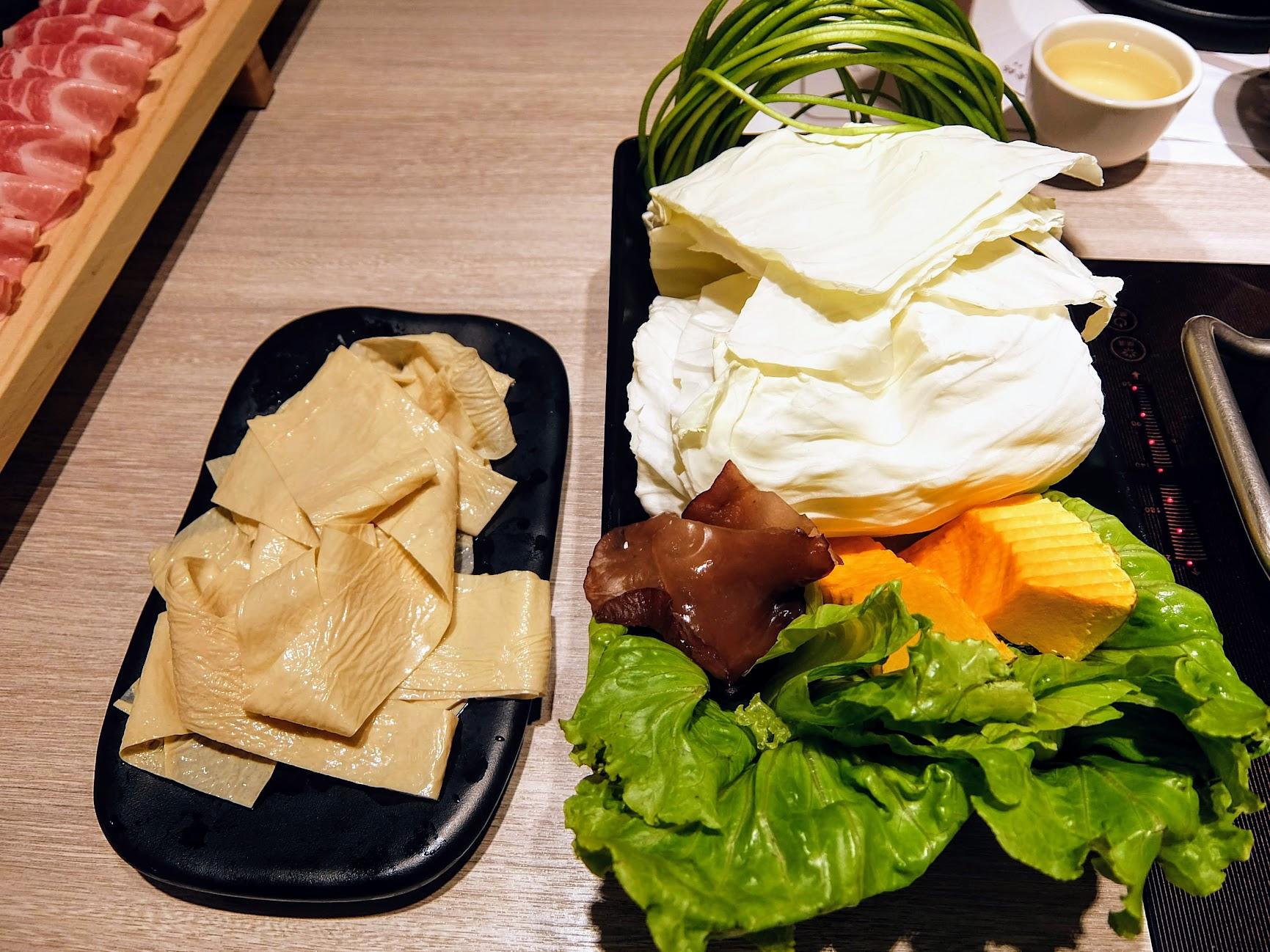 野菜盤/濕豆皮