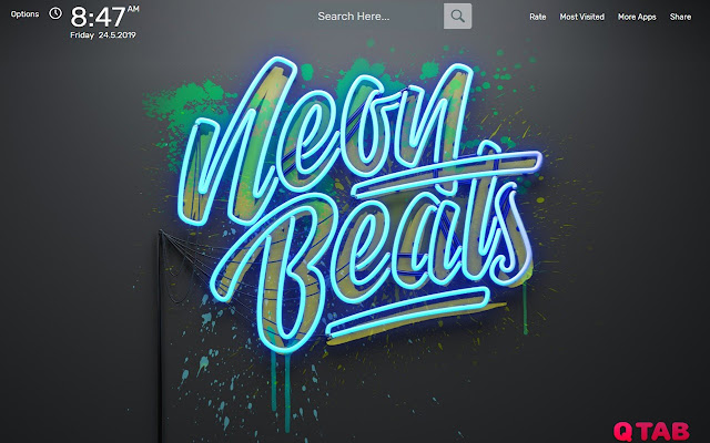 Neon Beats Wallpapers HD Theme