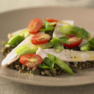 Warm Smoked Chicken and Lentil Salad