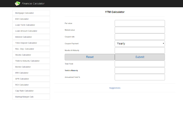 Financial Calculator Chrome Web Store - Invoice finance calculator