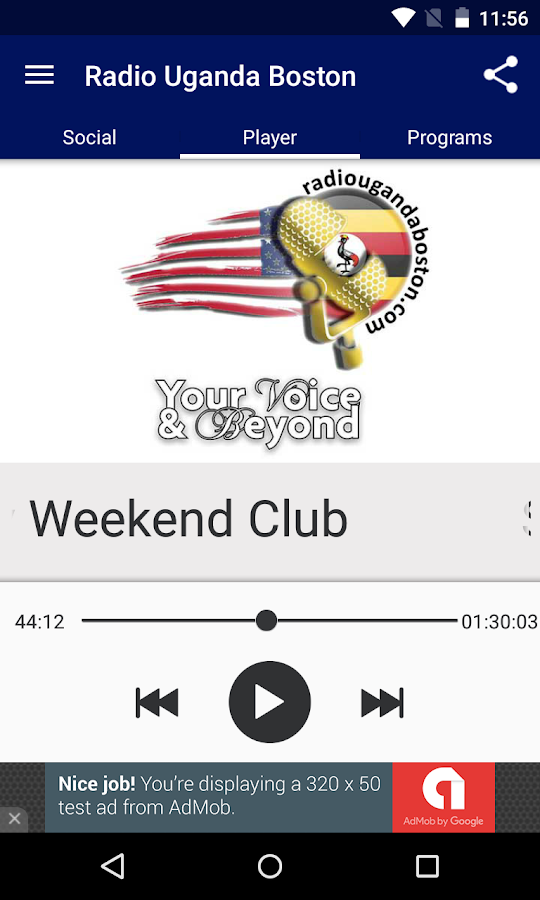 Radio Uganda Boston- screenshot