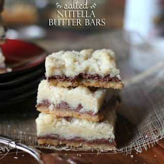 Salted Nutella Butter Bars.