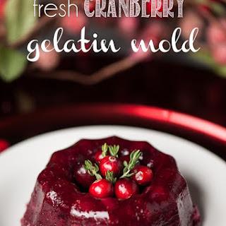 Fresh Cranberry Gelatin Mold
