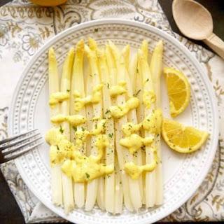 White Asparagus with a ProvençAl Lemon Mustard Mayo (Paleo, GF) Recipe