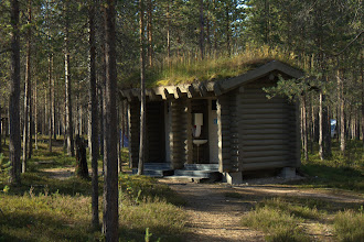 Photo: Sod-roofed bathroom at the campground in Oulanka National Park