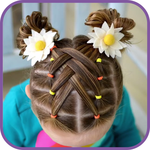 Hairstyles for children step by step on short hair