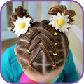 Hairstyles for children step by step on short hair APK