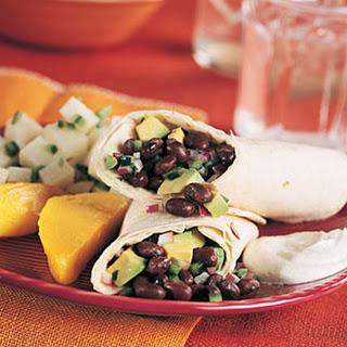Black Bean and Poblano Tortilla Wraps.