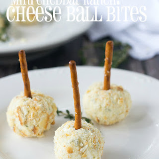 Mini Cheddar Ranch Cheese Ball Bites
