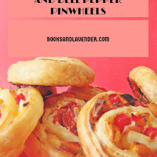 Ricotta, Ham and Bell Pepper Puff Pastry Pinweels.