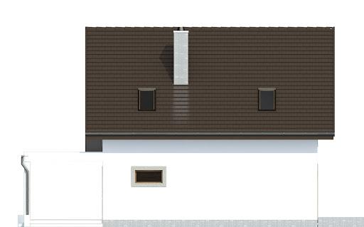 Turkawka z garażem i wiatą A1 - Elewacja tylna