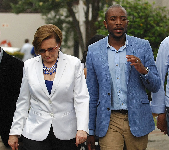 Helen Zille, left, and Mmusi Maimane. Picture: PUXLEY MAKGATHO