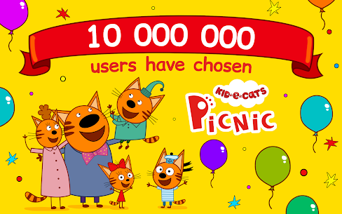 Kid-E-Cats: Three Cats on a Picnic! Kitty Games! 9