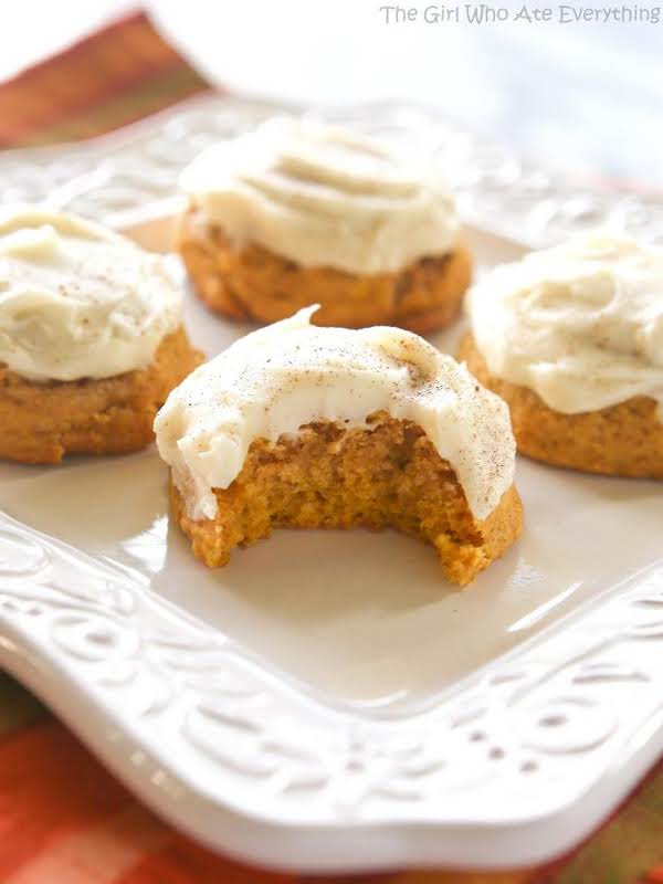 Frosted Pumpkin Nut-chip Cookies Recipe