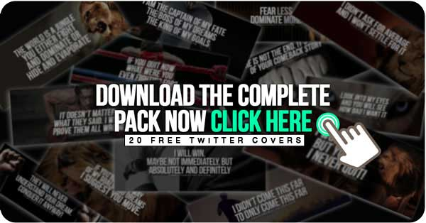 20 Free Twitter Covers | Fearless Motivation Quotes