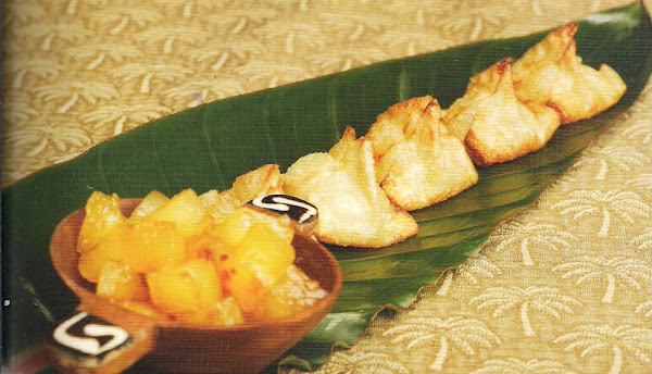 Brie And Macadamia Nut Deep Fried Wontons With Pin Recipe
