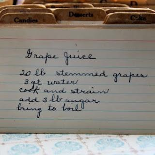 Grape Juice.