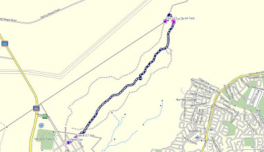 Photo: Blue line=Walk 8.8km - GPS map view on map base using open source Open Street Maps (OSM) NSW Cycle Garmin map - gps, kml files are located in Google Drive: https://drive.google.com/folderview?id=0B3KACTzeu2lANTA3NWM4NmItMjYyOC00MDAxLTk3ZDEtNzEzMjQ5MDViZGIw&usp=sharing
