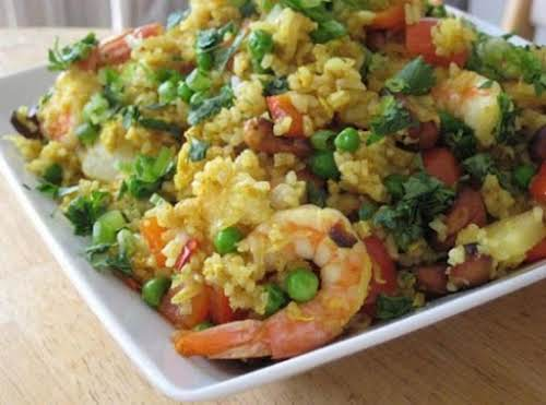 """Click Here for Recipe: Shrimp Pineapple Fried Rice """"I made this and..."""