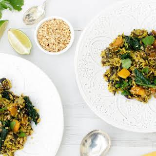 Autumn Brown Rice & Quinoa Pilaf [vegan] [gluten free].
