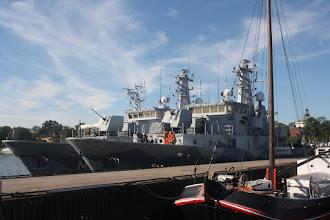 Photo: HMS Koster (M73), HMS Kullen (M74)