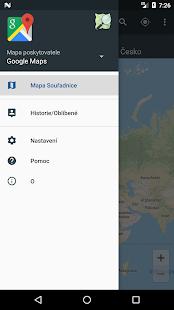 Mapa Souřadnice - náhled