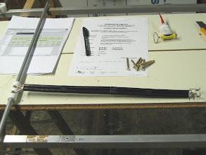 Photo: préparation du quart d'onde pour le radiateur