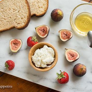 Cardamom Honey Goat Cheese Fig and Strawberry Tartines