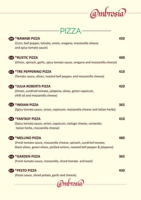 Ambrosia menu 1