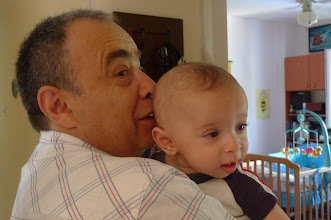 Photo: 5 months old, with grandpa Gregory.