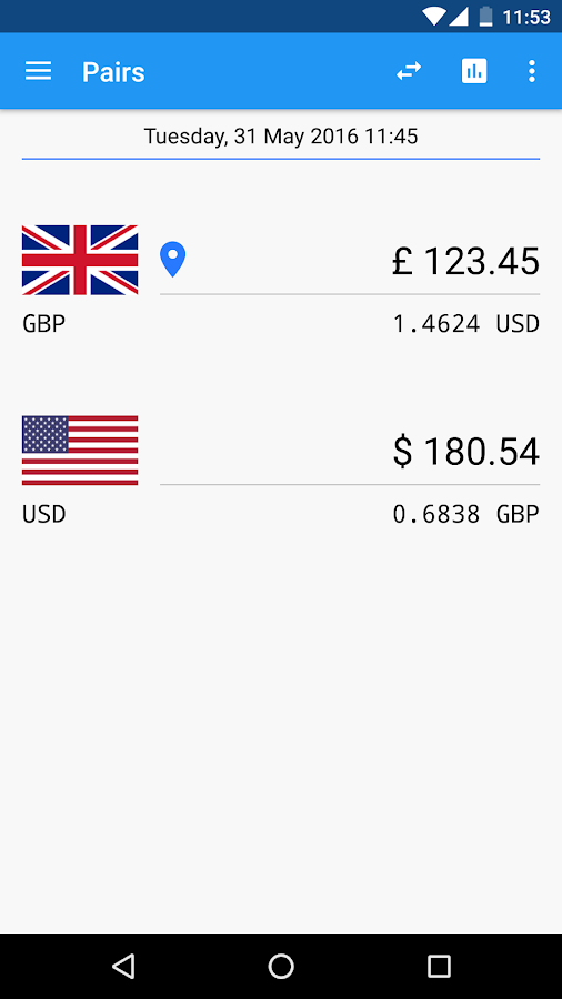 Exchange Rates- screenshot