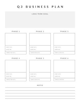 Boxed Document - Business Plan item