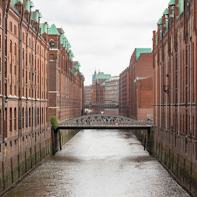 Warehouses District by Ansari Joshi - Buildings & Architecture Public & Historical ( hamburg, brick expressionism, seascape, historic, waterscape, germany, warehouses, my travels, bridges, my photography, old district,  )