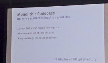 Photo: Wowza! Facebook's Github repository is 54GB.