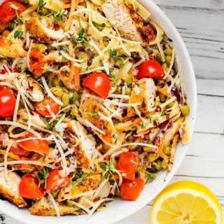 Pasta Primavera with Chicken.