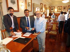 Photo: Sessão de apresentação do espaço Level UP - Dr. Fernando Horta – EMPET; Dr. João Pedro Rodrigues – EMPET; Dr. Fernando Pessoa d' Almeida - AGETAV