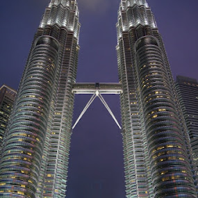 Petronas dazzling in the evening by Kaushik Nandy - Buildings & Architecture Public & Historical ( night, lights )