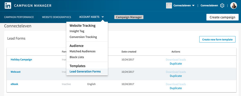 Easily download your lead data with Campaign Manager