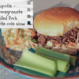 Crock Pot Pomegranate Chipotle Pulled Pork and Cole Slaw