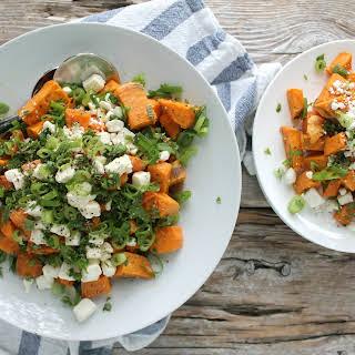Roasted Sweet Potato, Herb and Feta Salad.