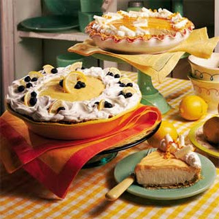 Lemon-Blueberry Cream Pie.