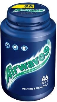 Wrigleys Airwaves Bubblegum - Menthol and Eucalyptus, 46 Pellets