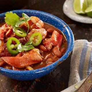 Southwestern Smoked Maine Lobster Chili.