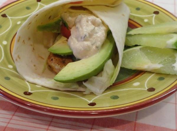 Grilled Fish Tacos W/ Chipotle Crema Recipe