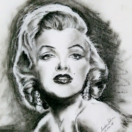 Marilyn Monroe by Tutul Saha - Painting All Painting