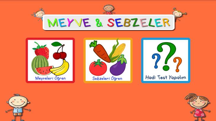 Okul Öncesi Meyveler Sebzeler- image