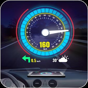 Voice Speedometer: Heads Up Display GPS odometer