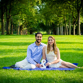 Engaged by Winterlyn Stebner - People Couples ( park, grass, summer, trees, couple, spring, engagement )