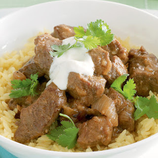 Penang Beef Curry with Turmeric Rice