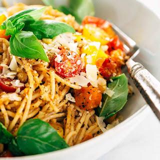 Basil Pesto Pasta With Tomatoes Recipes.